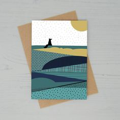 Fox In The Countryside Greetings Card by Lucy Alice Designs, the perfect gift for Explore more unique gifts in our curated marketplace. Card Drawing, Paper Envelopes, Cellophane Bags, Bold Colors, Countryside, Card Stock, Unique Gifts, Recycling, Alice