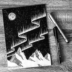 A glimpse into space---moleskine doodle inspired by the works of Kerby Rosanes. A glimpse into space---moleskine doodle inspired by the works of Kerby Rosanes. Space Drawings, Cool Art Drawings, Pencil Art Drawings, Art Sketches, Sketchbook Cover, Arte Sketchbook, Ink Illustrations, Illustration Art, Art Journal Inspiration