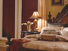 For a bedroom, you want a window treatment that provides a high degree of privacy and light control. Rick & Nancy's Window Fashions offers a wide range of solutions.