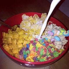 *runs out to buy cereal* It's important to get all of the cereal food groups.