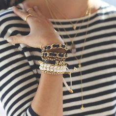 Making stripes more interesting! ck supreme love for blue and white stripes and these accessories are stunning