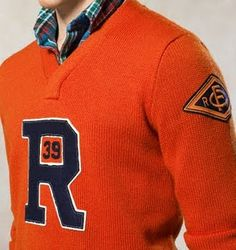 Ralph Lauren Letterman R Wool Sweater