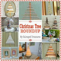 My Salvaged Treasures: Christmas Tree Roundup
