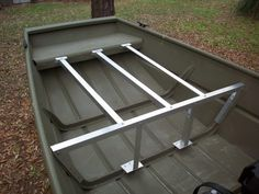 Step-By-Step Boat Plans - Build Jon Boat Decking Plans panga boat building plans Aluminum Jon Boats, Aluminum Fishing Boats, Buy A Boat, Diy Boat, Boat Building Plans, Boat Plans, John Boats, Flat Bottom Boats, Boats
