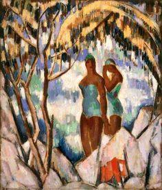 'Bathers in Green', John Duncan Fergusson, 1931