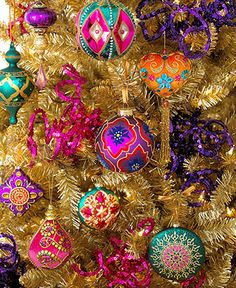 Holiday Lane Christmas Ornaments, Bohemian Tree Theme - Holiday ...