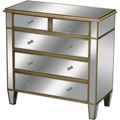 Buy the Sterling Industries 6043630 Mirrored Direct. Shop for the Sterling Industries 6043630 Mirrored Verona Mirrored Dresser and save. Chest Dresser, Dresser With Mirror, Dresser Drawers, Mirrored Dresser, Mirrored Furniture, Dressers, Mirror Panels, Accent Chest, Small Drawers
