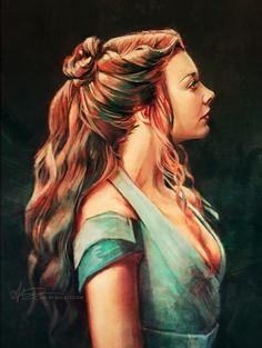 Simple study of Margaery Tyrell, done over stream yesterday. The recording is here if you missed it. by Alice X. Zhang
