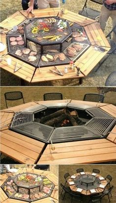 Garden fire pit table option