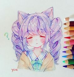 Anime Drawings Practice (・ω・`) I've been asked before how I get pastel colours with coloured pencils - I just put down the normal colours and then mix in a lot of white pencil into everything to make them more pale~ (*´꒳`*) Anime Art, Anime Art Tutorial, Anime Drawings Sketches, Cute Art, Kawaii Drawings, Anime Sketch, Art, Cute Drawings, Kawaii Art