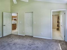 Master bedroom, look at the new carpet. feat. walk in closet! Find this home on Realtor.com