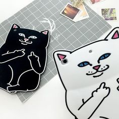 IPad protective Silicone cover with fucking cat for