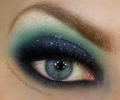 Song of the Siren a gorgeous cosmic look by Meredith P posted on Makeup Bee and her site pigmentsandpalettes