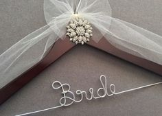 Vintage Look Jeweled Bridal Hanger, Personalized Wedding Dress Hanger,  Bridal Shower,