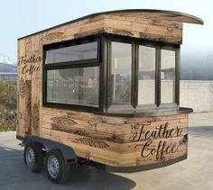 Food Inspiration - The Feather Coffee trailer design. Giving Hope One Sip at a Time. Food Inspiration The Feather Coffee trailer design. Giving Hope One Sip at a Time. Foodtrucks Ideas, Coffee Food Truck, Mobile Coffee Shop, Coffee Trailer, Coffee Van, Food Truck Business, Food Truck Design, Food Cart Design, Food Vans