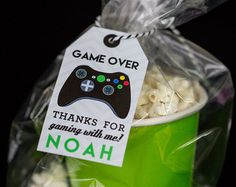 Gamer Favor Tags Printable Video Game Party by PrintableStudio505