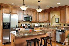 kitchen+cabinets+images | Ginger Maple Kitchen Cabinets - $1650 in Carbondale, Illinois For Sale