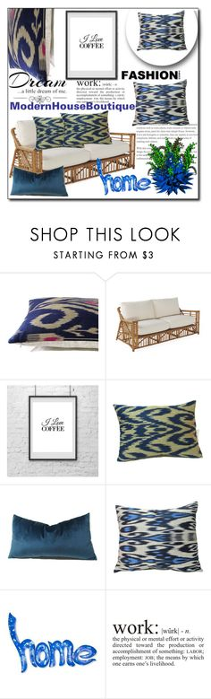 """""""Modern House Boutique 11"""" by sabinn ❤ liked on Polyvore featuring interior, interiors, interior design, home, home decor, interior decorating, NOVICA, Love Quotes Scarves, WALL and modern"""