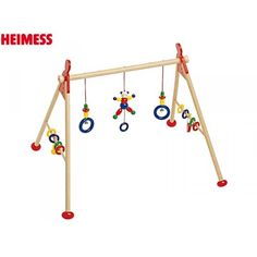 A beautiful crafted Heimess wooden baby gym with teddy bears. A lovely gift to stimulate play, dexterity and coordination. Bear Toy, Teddy Bear, Baby Cribs, Decoration, Baby Shower, Toys, Gifts, Baby Gym, Baby Bears