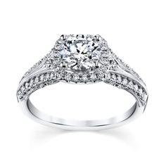 Peter Lam Luxury Royal Lace 14K White Gold Diamond Engagement Ring Setting