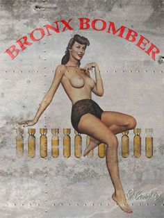 Bronx Bomber Nose Art Pinup Beauty.