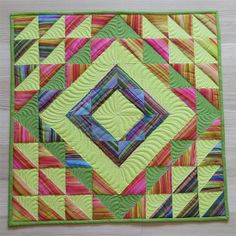 """Geta's Quilting Studio - a vibrant quilt made by  Geta Grama with Dora Cary """"Stripe Play"""" pattern"""