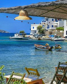Katapola in Amorgos island, Cyclades, Greece Mykonos, Santorini Greece, Cool Places To Visit, Places To Travel, Places To Go, Sailing Holidays, Greek Isles, Italy Holidays, Greece Islands