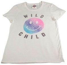 Vans Womens G Wild Tee Smiley Face Fashion T-Shirt White Blue Purple Pink