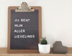 Poster Letterbord Stijl