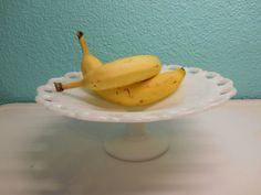 Milk glass scalloped edge fruit or dessert by SouvenirAndSalvage