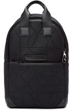 McQ Alexander Mcqueen - Black Embossed Neoprene Backpack