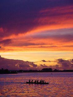 Apia Harbor Sunset