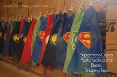 Crazy easy superhero capes: Superhero Party from @slkooiman at Arena Five