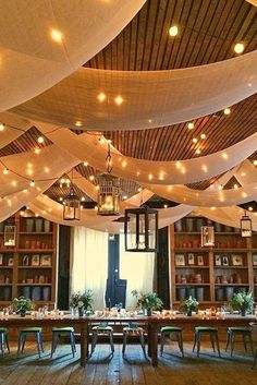 30 Rustic Barn Wedding Reception Space with Draped Fabric Decor Ideas Barn Wedding Decorations, Wedding Lanterns, Rustic Wedding Centerpieces, Lanterns Decor, Barn Wedding Venue, Hanging Lanterns, Wedding Ideas, Wedding Blog, Wedding Ceremony