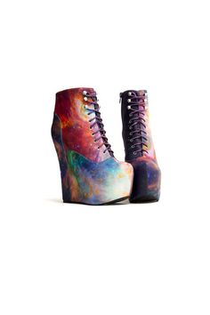 DAMSEL - RAINBOW GALAXY  JEFFREY CAMPBELL + BLACK MILK