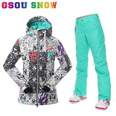d27199dee All-over print floral pattern snowboard and ski jacket