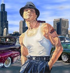 """the alternate ending to the movie """"a better life"""" .luis galindo goes the gangster route. Chicano Movies, Chicano Rap, Gangster Movies, Angel Devil Tattoo, Angel And Devil, Benjamin Bratt, Cholo Style, Sexy Men, Hipster"""