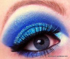 Baby blue sky #eye shadow #makeup