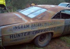 Old Texas Barns for Sale | ... Chevrolet Impala NASCAR Race Car Barn Find Roy Mayne For Sale Rear