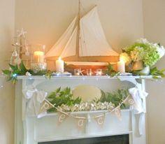 Latest Decorating Ideas  Beachy Christmas Mantel Ideas   Coastal Christmas Stocking Stuffer Ideas!   ...