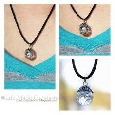 cracked marble pendant
