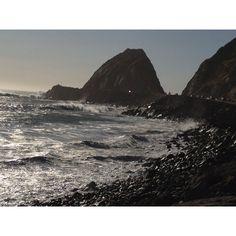 Point Mugu, California. Mugu Rock. My name is spray painted on that rock. 1970.