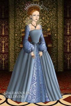 Queen Elizabeth ~ by Elisabetta93 ~ created using the Tudors doll maker   DollDivine.com