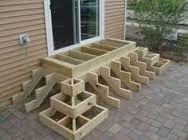 Image result for corner deck stair stringer