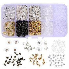1040 PCS Earring Bullet Backs Clips Metal Rubber 10 Styles Safety Jewelry Women #Supla