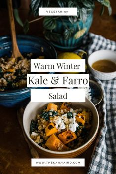 Warm Winter Kale Farro Salad « The Kailyaird | Hearty & Healthy Entree