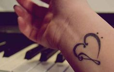 Or clefs a little more intricate: | 65 Totally Inspiring Ideas For Wrist Tattoos