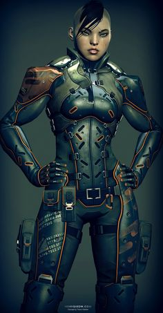 cyberpunk, robot girl, cyborg, futuristic, android, sci-fi, science fiction…