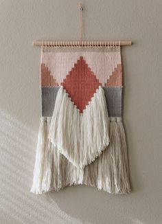 Wanddeko - Handgewebter Wandteppich BOHO - ein Designerstück von wednesdayweaving bei DaWanda