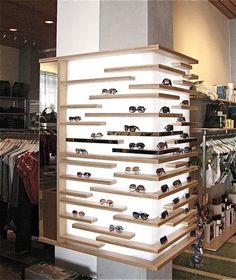 lit shelves corner